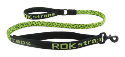 ROK straps elastiskt hundkoppel grön
