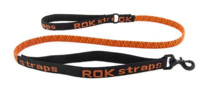 ROK straps elastiskt hundkoppel orange