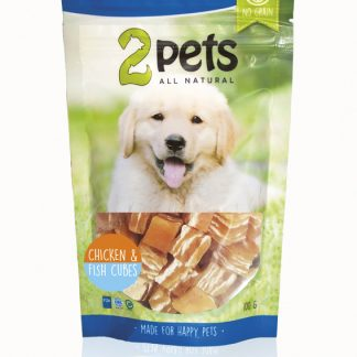 2Pets chicken and fish cubes 100g