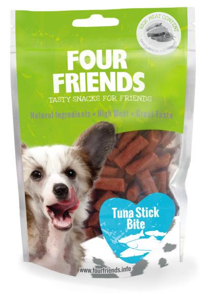 Four Friends tuna sticks bite