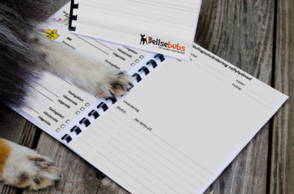 Träningsdagbok för hundträning anpassad för rallylydnad