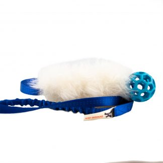 Doggie-Zen fårskinnskampis med nätboll