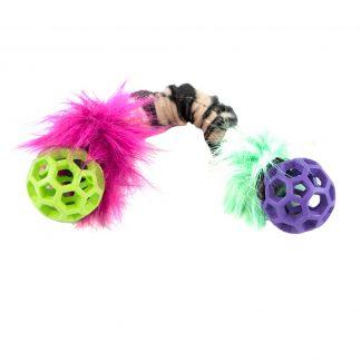 Doggie-Zen dubbel nätboll med prassel
